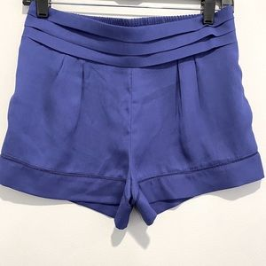 High waisted blue dressy shorts size small